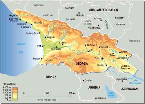 Journey To Sakartvelo Georgia - Georgia map geography
